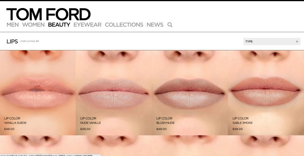 BeautyAddict.com Tom Ford Lips